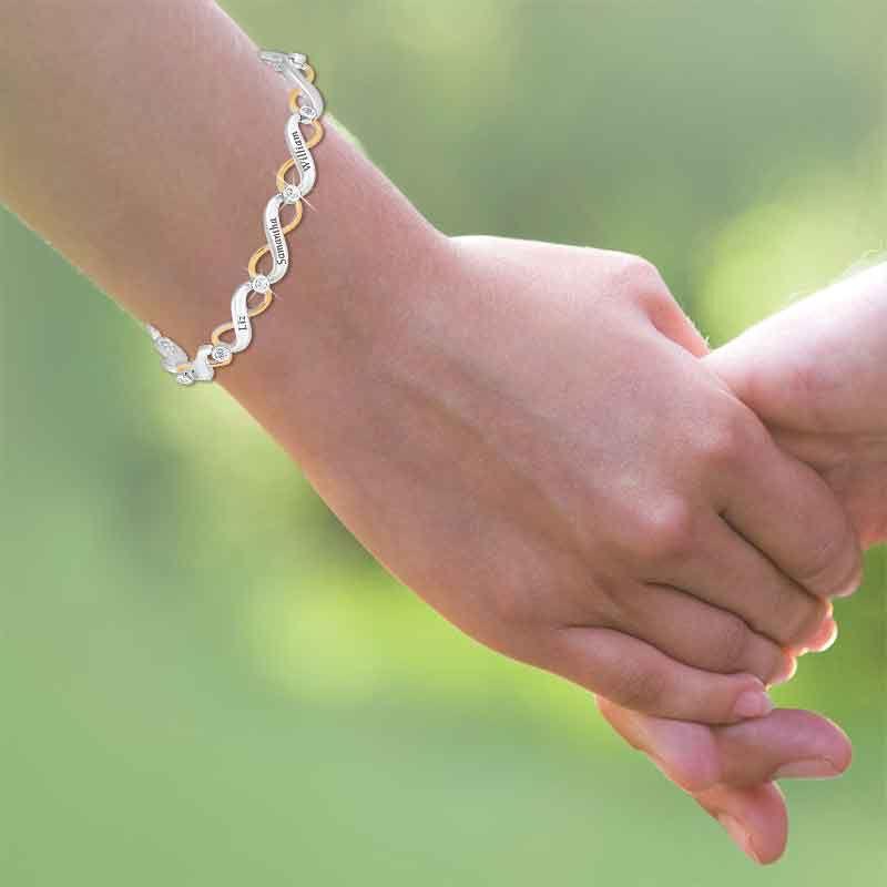 Family Forever Personalized Diamond Bracelet 2891 006 5 4