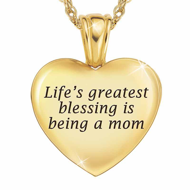 Blessed to be a Mom Diamond Pendant 1678 001 7 3