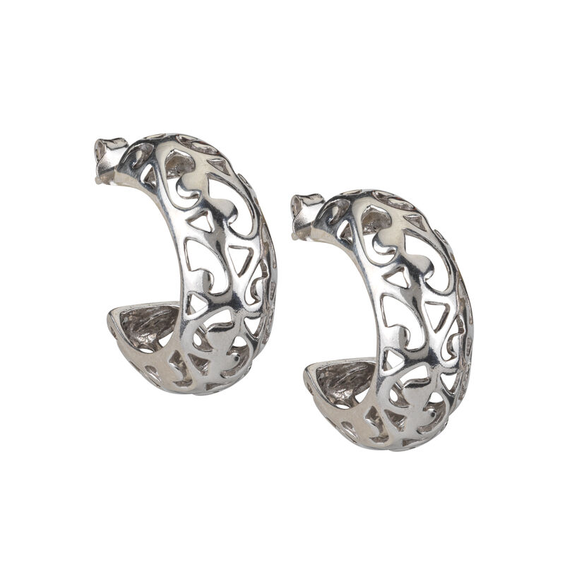A Sterling Year Silver Hoop Earrings 10633 0012 a main