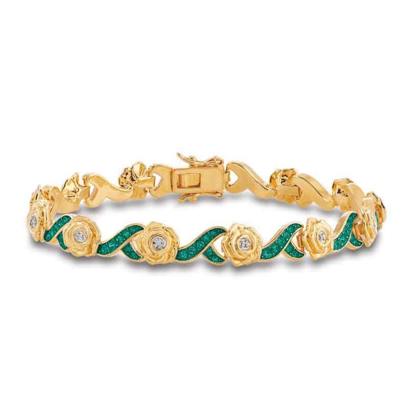 A Dozen Roses Birthstone  Diamond Bracelet 6684 001 8 14