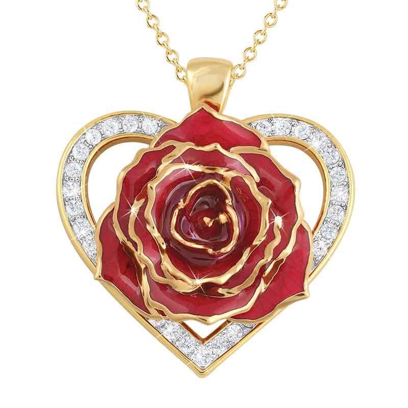 True Love Genuine Rose Heart Pendant 2249 001 5 1