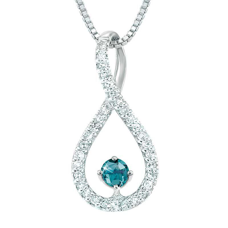 The Blue Lagoon Diamond Pendant 4656 001 7 1