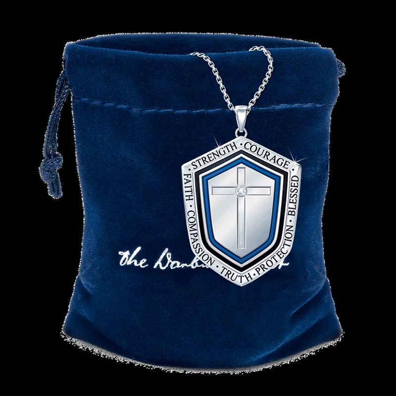 Blessed Grandson Shield Pendant 2258 001 3 3