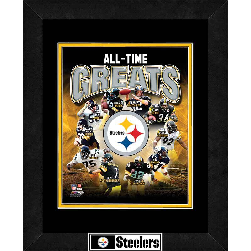 Pittsburgh Steelers All Time Greats Framed Commemorative 4391 077 7 1