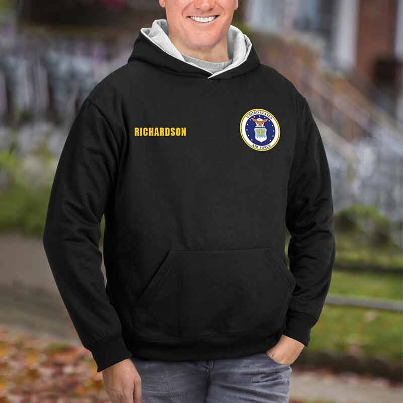 The Personalized Reversible US Air Force Hoodie 2148 002 5 3