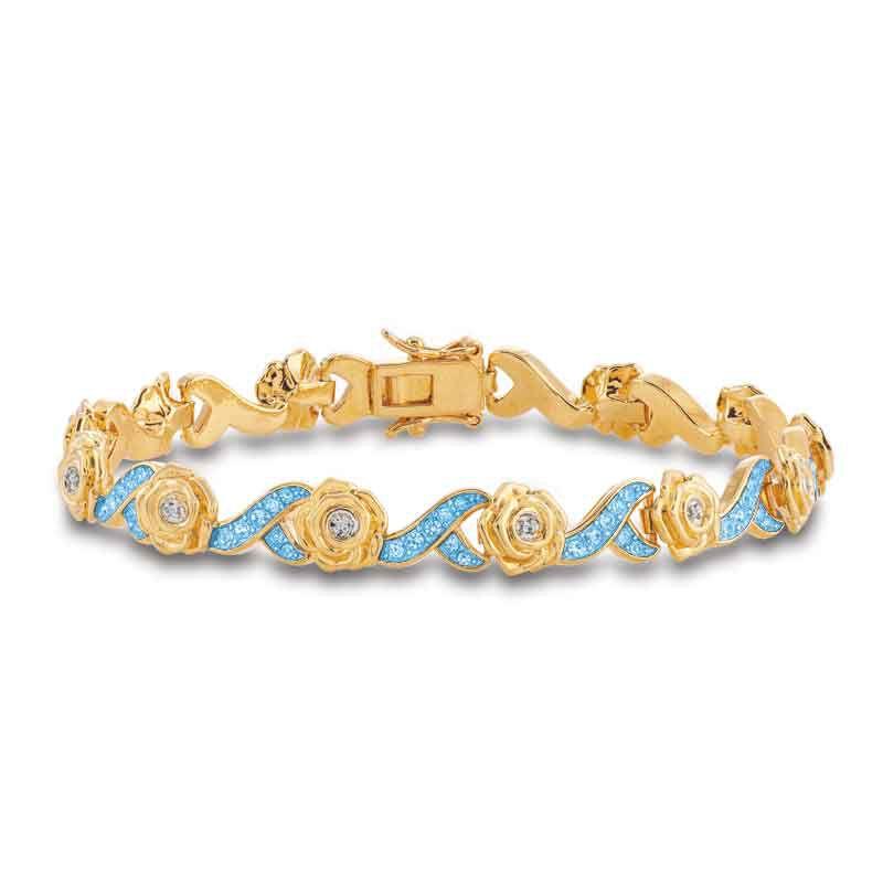 A Dozen Roses Birthstone  Diamond Bracelet 6684 001 8 12