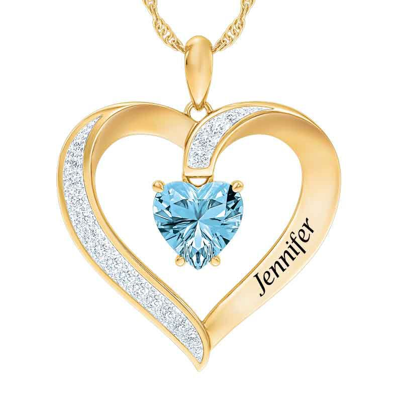 Personalized Birthstone Heart Pendant 5447 001 8 3