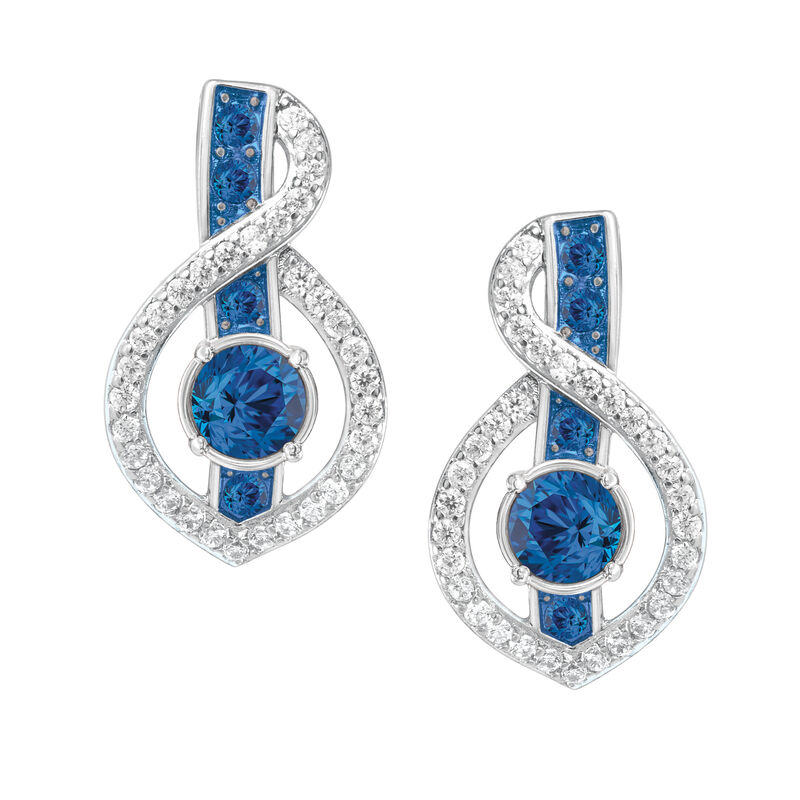 Birthstone Wave Earrings 2202 0069 i september
