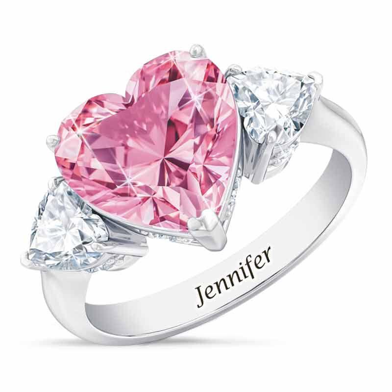 Birthstone Triple Heart Ring 1516 001 3 10