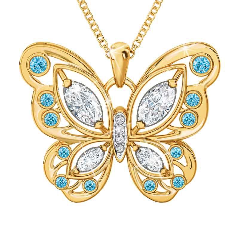 The Birthstone Butterfly Diamond Pendant 2030 001 8 3