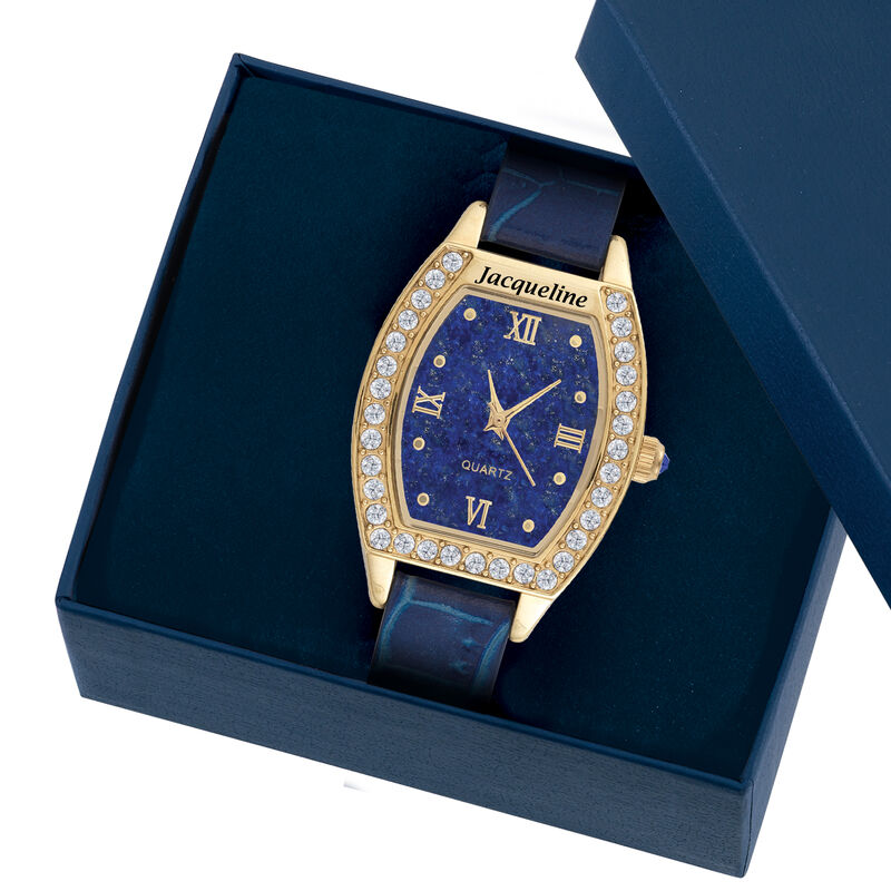 The Daughter Blue Lapis Watch 10014 0011 g open display