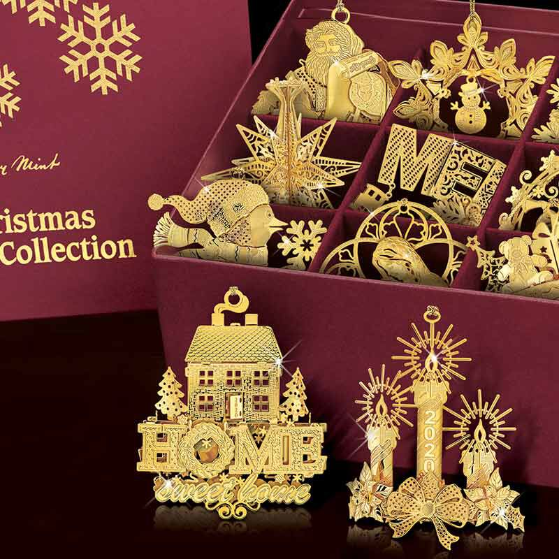 The 2020 Gold Christmas Ornament Collection