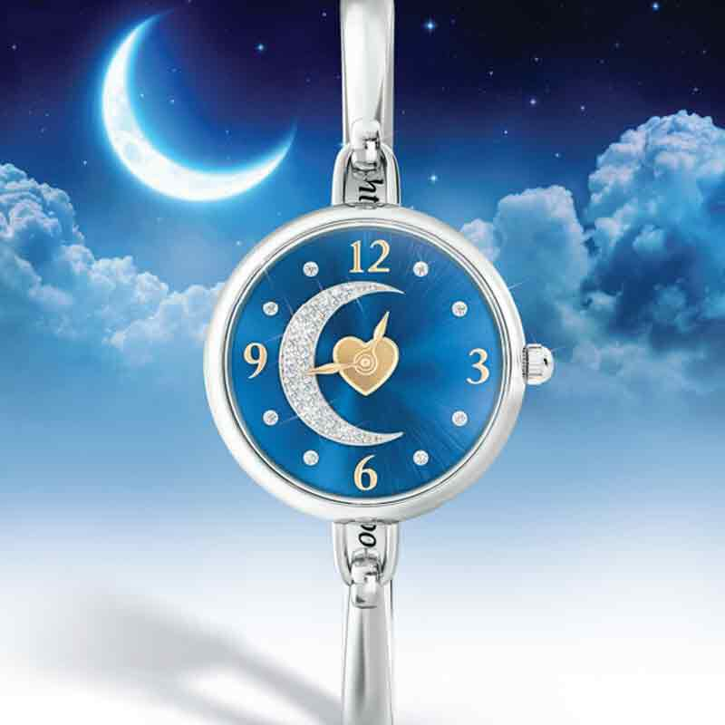 My Daughter I Love You to the Moon and Back Crystal Watch 2405 001 5 5