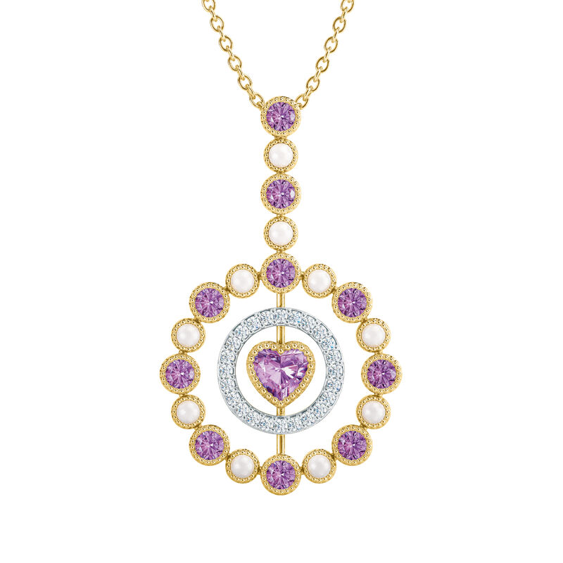 Love Embrace Birthstone Diamond Necklace 6928 0014 f june