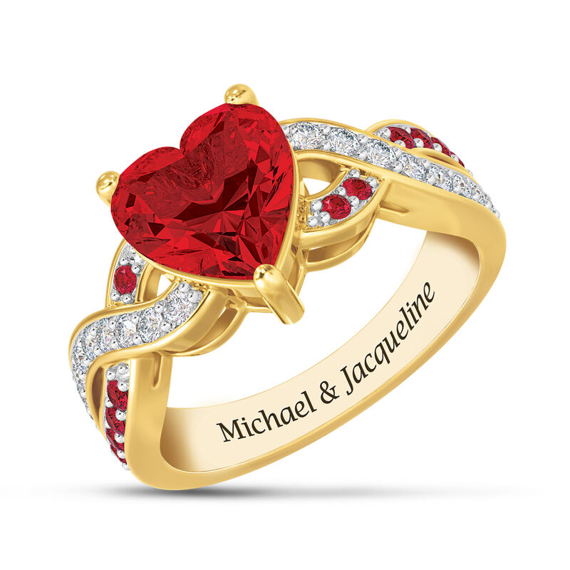 Our Love Is True Ruby Red Heart Ring 10041 0018 a main