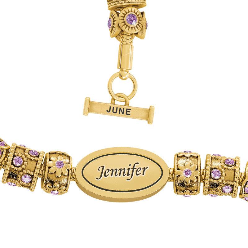 Beauty Personalized Charm Bracelet 2406 001 4 6