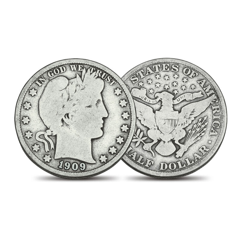 Barber Half Dollars Collection 4809 0054 b coin