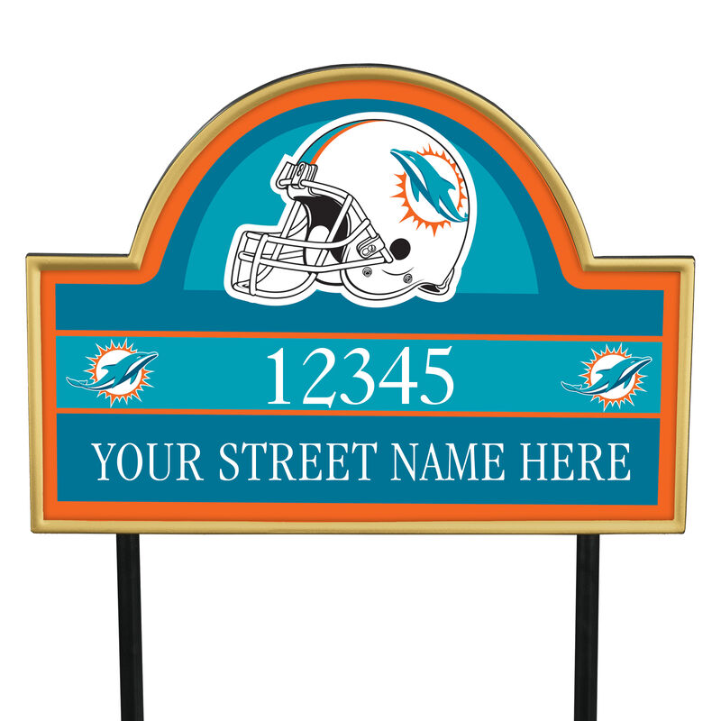 NFL Pride Personalized Address Plaques 5463 0405 a dolphins