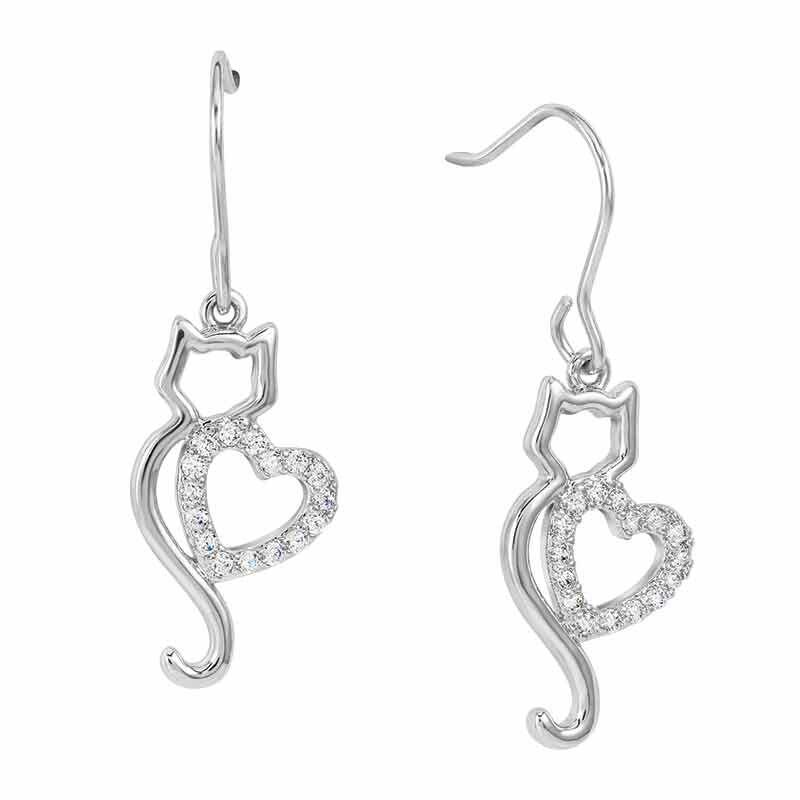 Kitty Love Pendant  Earring Set 4997 001 5 3