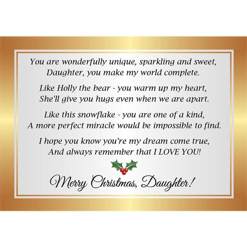 The Diamond Bearing Christmas Bear for Daughter 6080 001 8 4