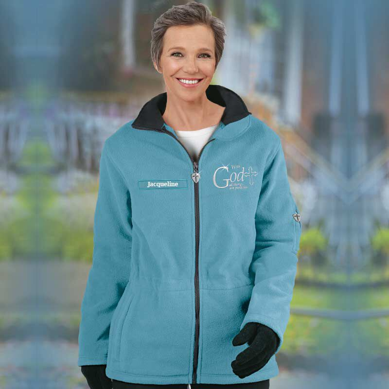 With God All Things are Possible Fleece Jacket 1100 001 5 3