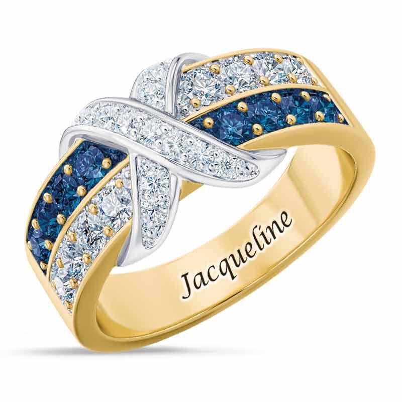 Birthstone Beauty Diamond Kiss Ring 6503 001 7 9