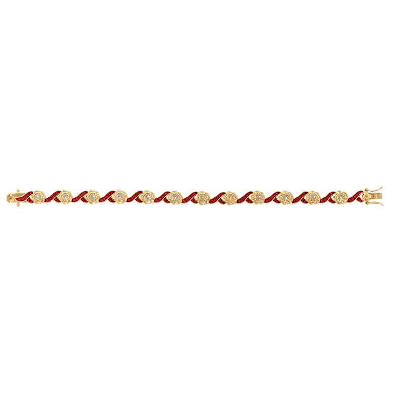 A Dozen Roses Birthstone  Diamond Bracelet 6684 001 8 8