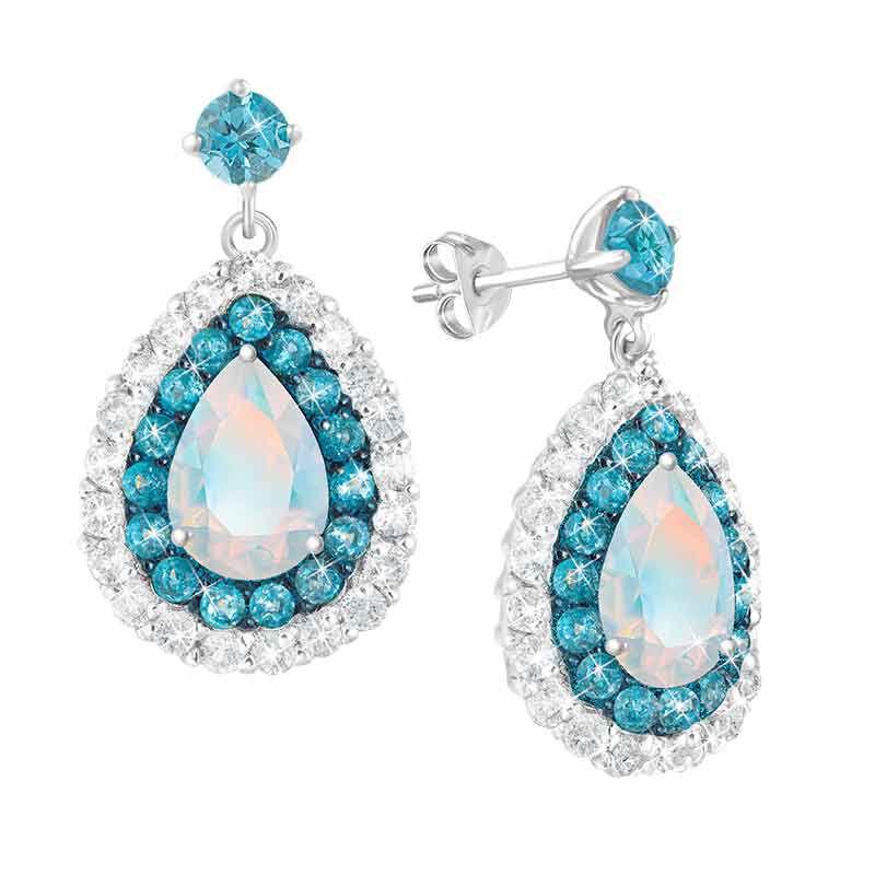Drops of Splendor Opal  Topaz Earrings 2110 001 1 1