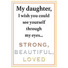 Strong Beautiful Loved Daughter Copper Bangle 10173 0018 b poem
