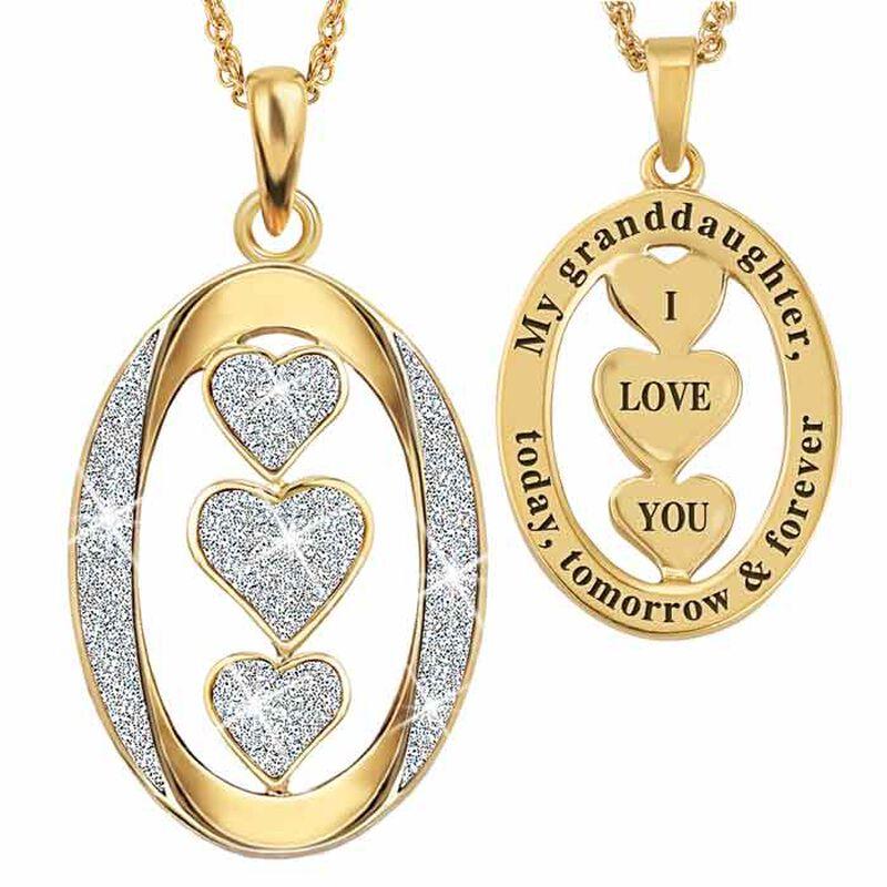 My Granddaughter I Love You Diamond Pendant 5185 001 4 1