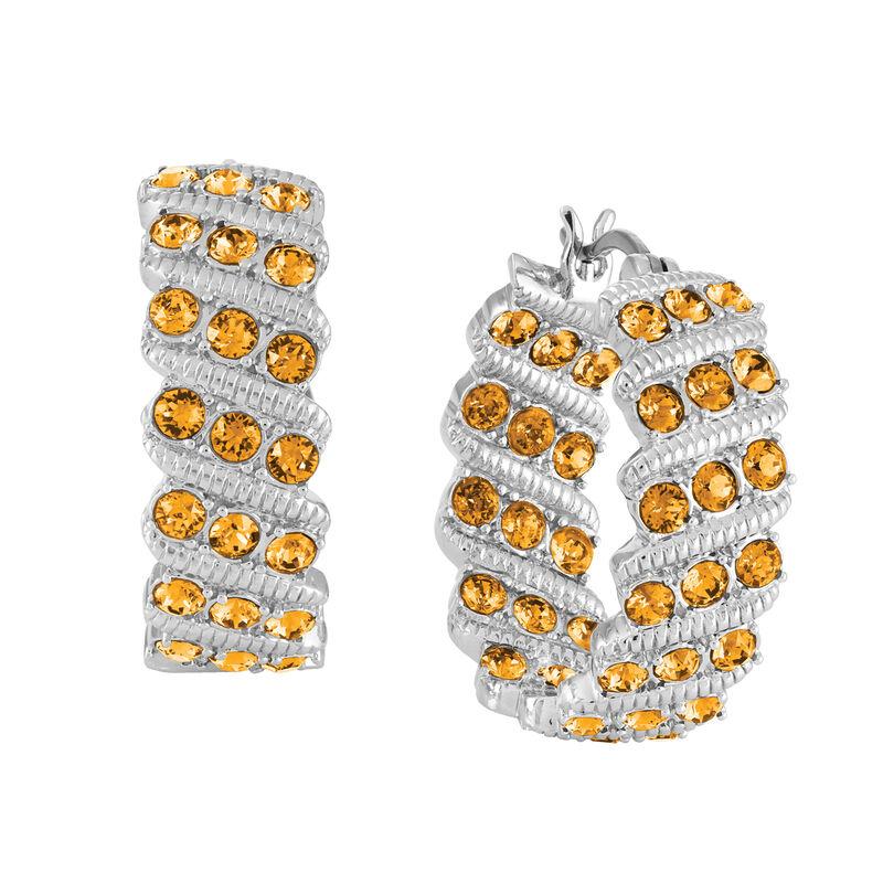 Birthstone Hoop Earrings 6003 0020 k november