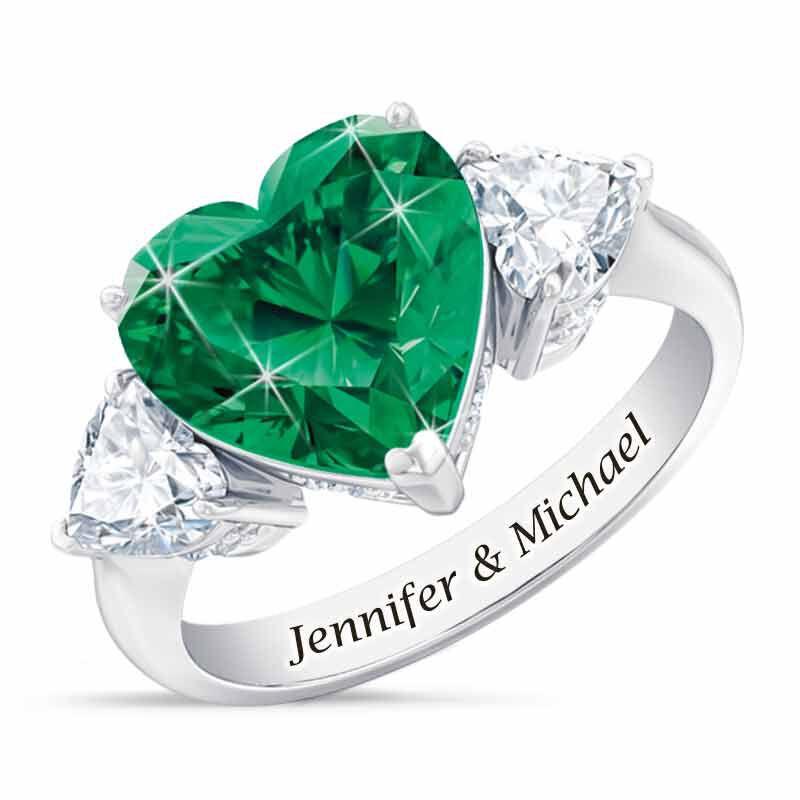 Birthstone Triple Heart Ring 1516 002 1 5