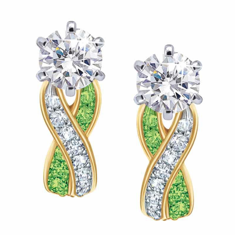 Birthstone Swirl Earrings 5361 014 3 8