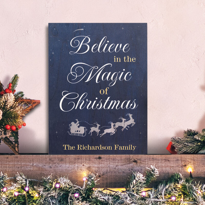 The Personalized Christmas Wood Sign 6996 0011 m room