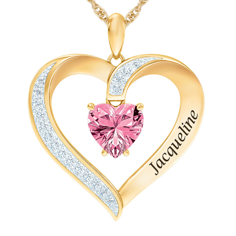 The Birthstone Heart Pendant 6015 0026 j october