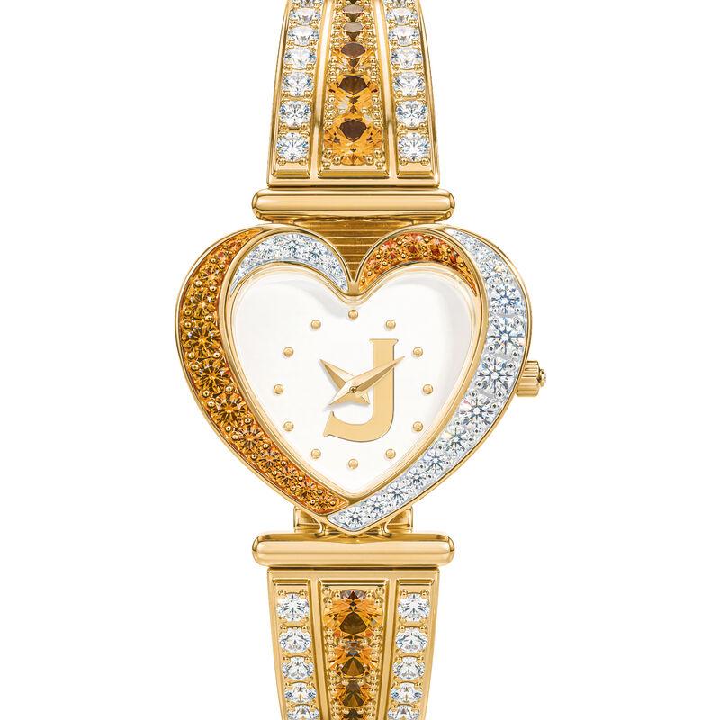 Womens Birthstone Initial Heart Watch 10332 0016 k november