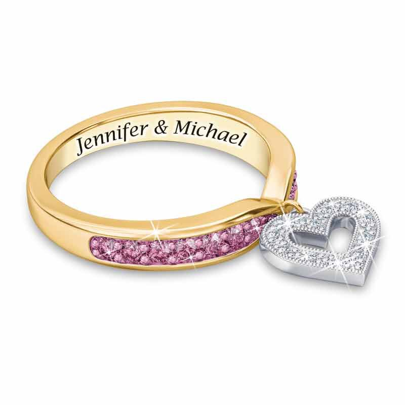 My Love Birthstone  Diamond Charm Ring 2145 001 0 10
