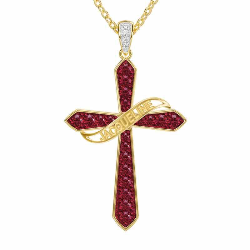 The Birthstone  Diamond Cross Necklace 6787 001 4 7