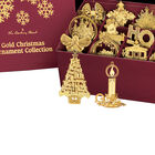 2021 Gold Christmas Ornament Collection 2798 0028 k open display