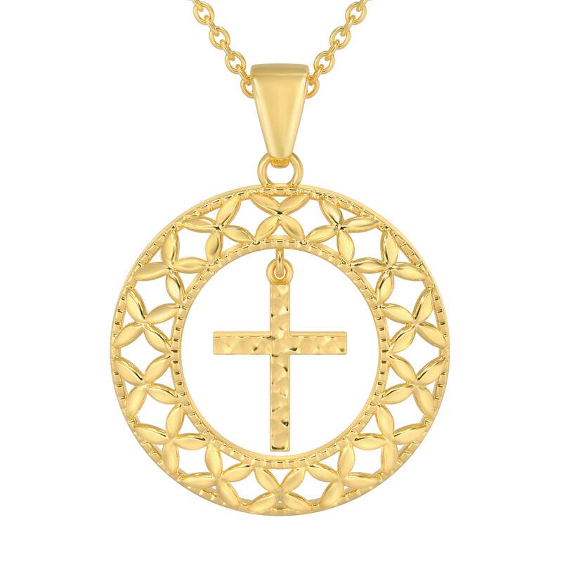 Shining Light Cross Pendant Earring Set 10227 0014 c pendant