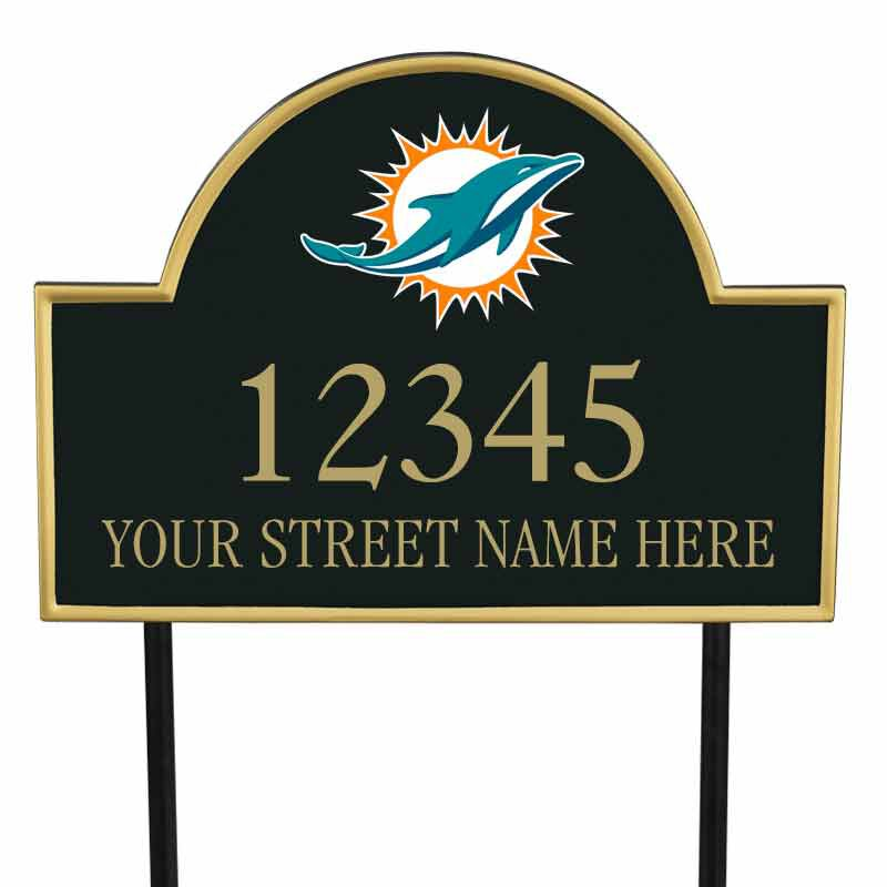 The NFL Personalized Address Plaque 5463 0355 m dolphins