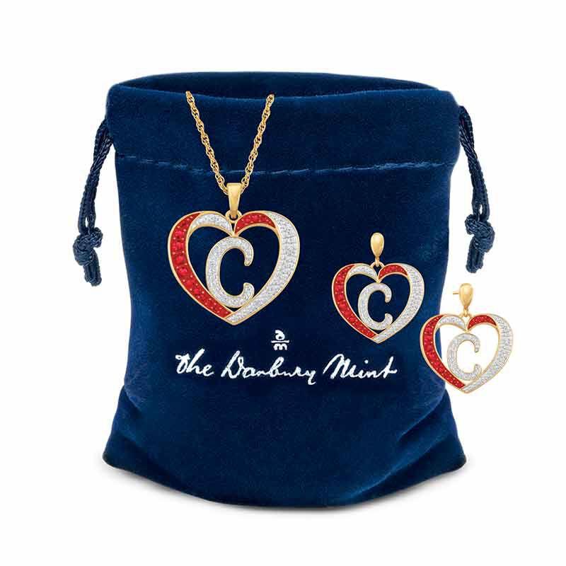 Personalized Diamond Initial Heart Set 2300 005 2 4