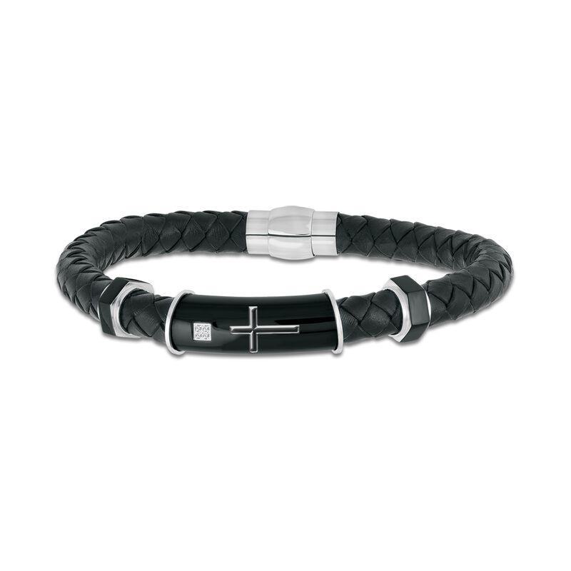 Black Ice Diamond Cross Bracelet 10174 0025 a main