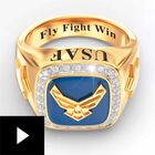 Personalized U.S. Air Force Ring--Size 7, , video-thumb