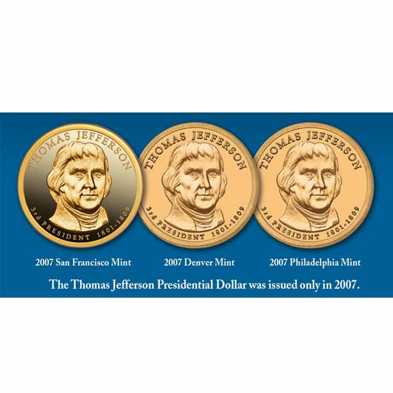 Thomas Jefferson Coin and Currency Set 1796 003 0 7