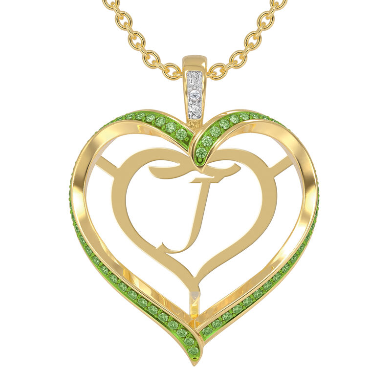 Personalized Birthstone Diamond Pendant 10138 0012 h august