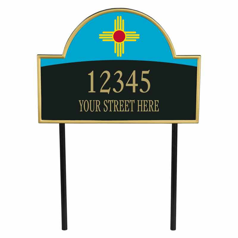 The New Mexico Personalized Address Plaque 1073 009 1 1