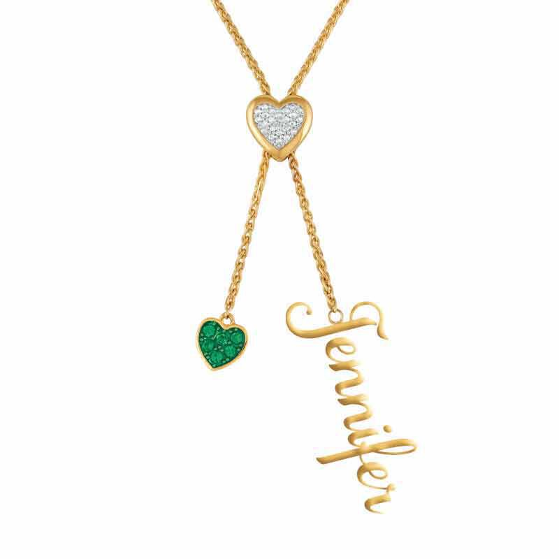 Daughter Personalized Birthstone Bolo Necklace 6525 001 1 13