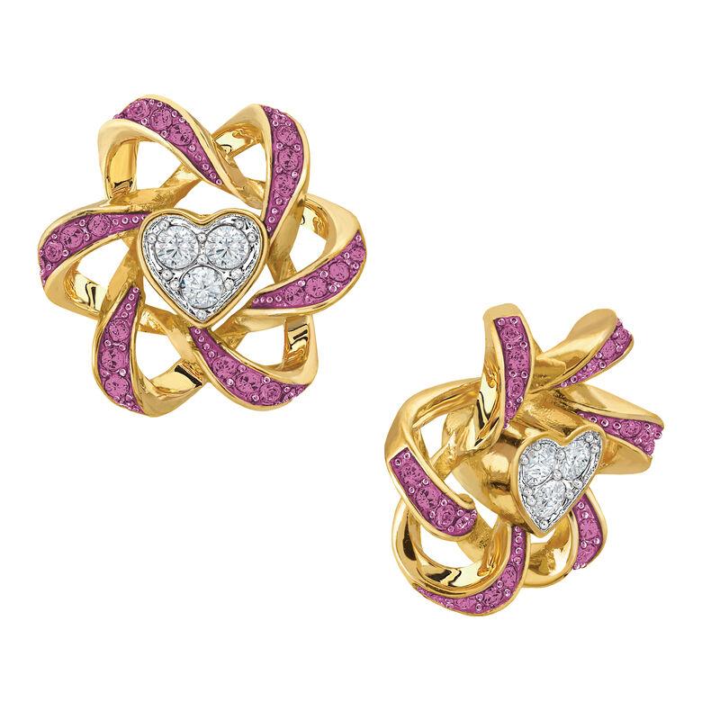 Birthstone Beauty Heart Earrings 2627 0066 j october