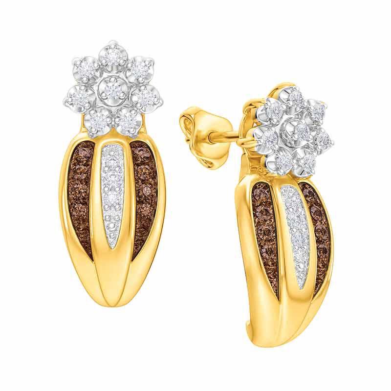 Mocha Radiance Diamond Earrings 5058 007 5 1